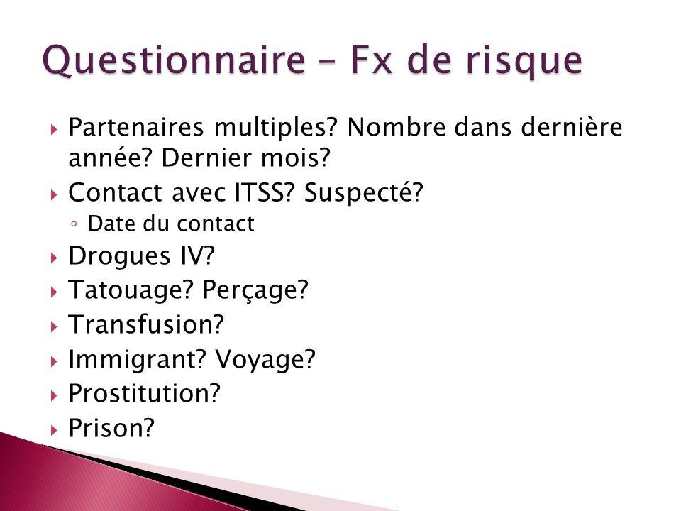 Questionnaire – Fx de risque