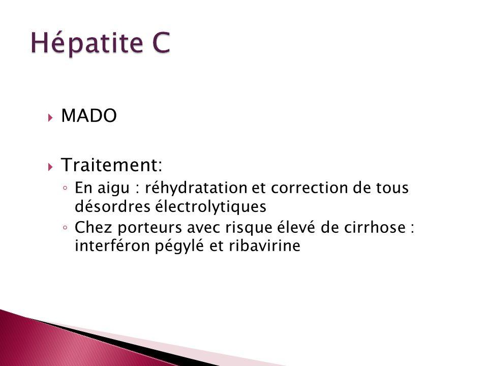 Hépatite C MADO Traitement: