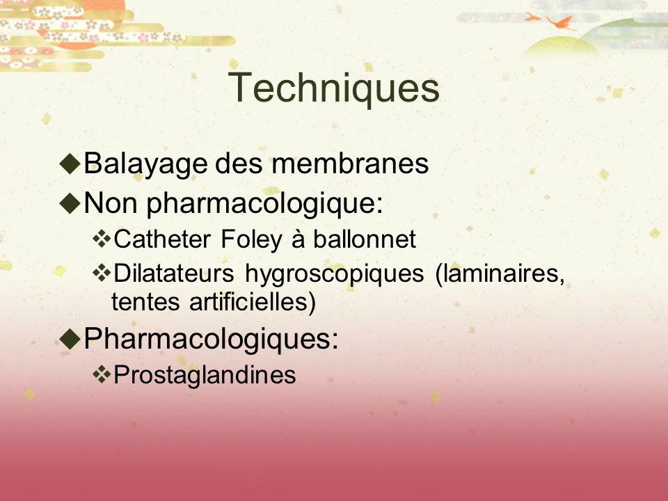 Techniques Balayage des membranes Non pharmacologique:
