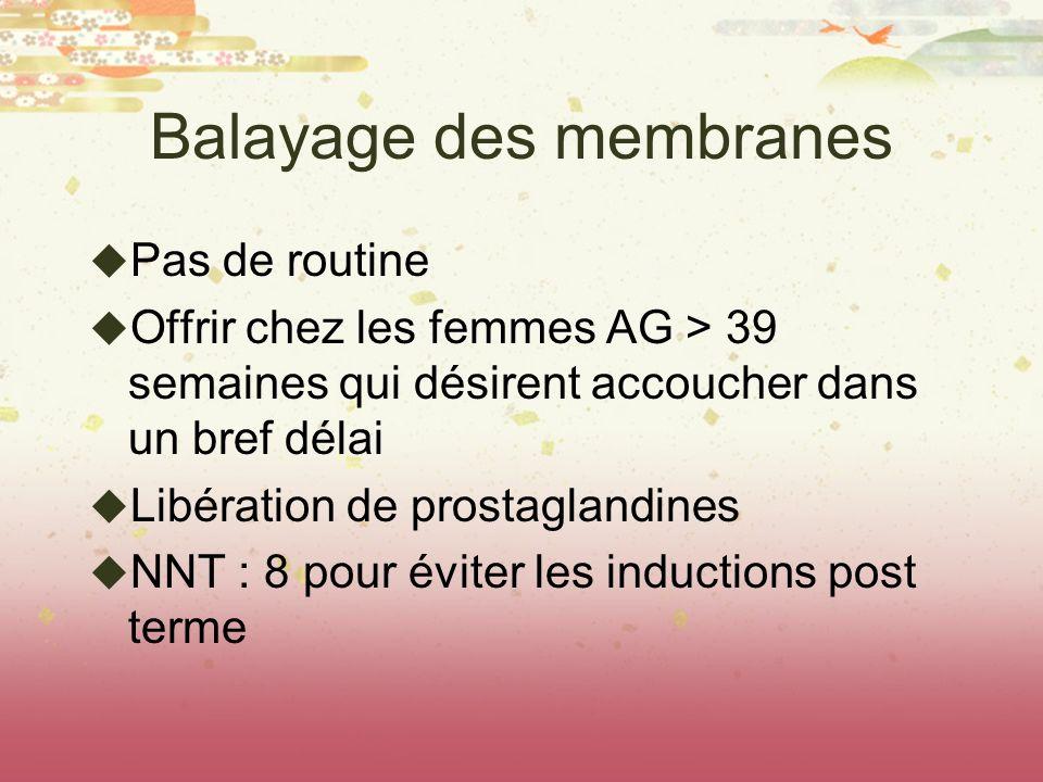 Balayage des membranes