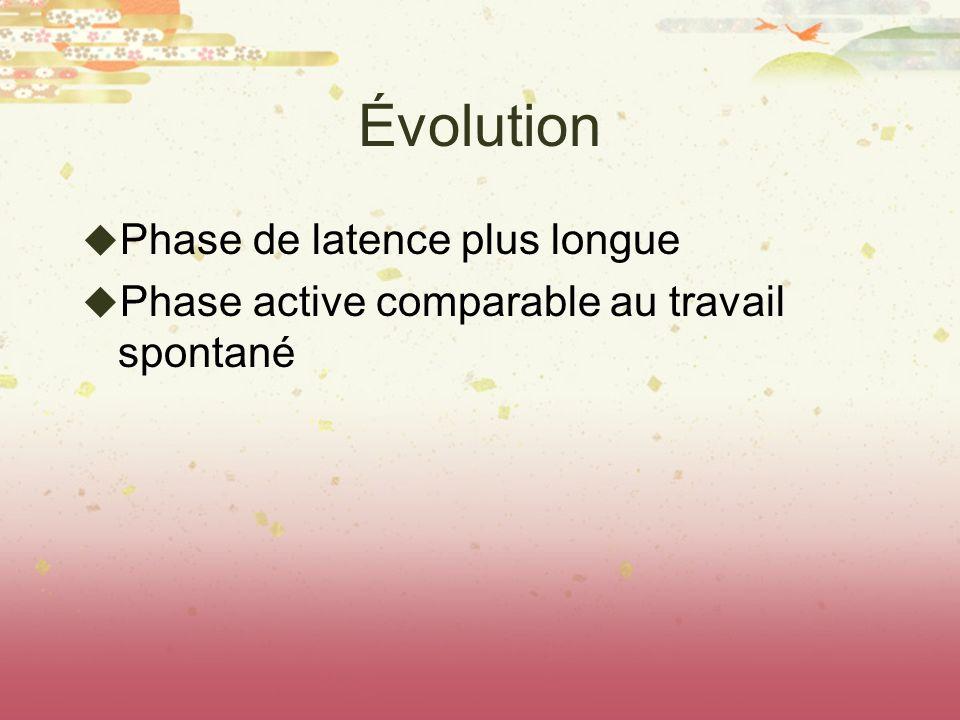 Évolution Phase de latence plus longue