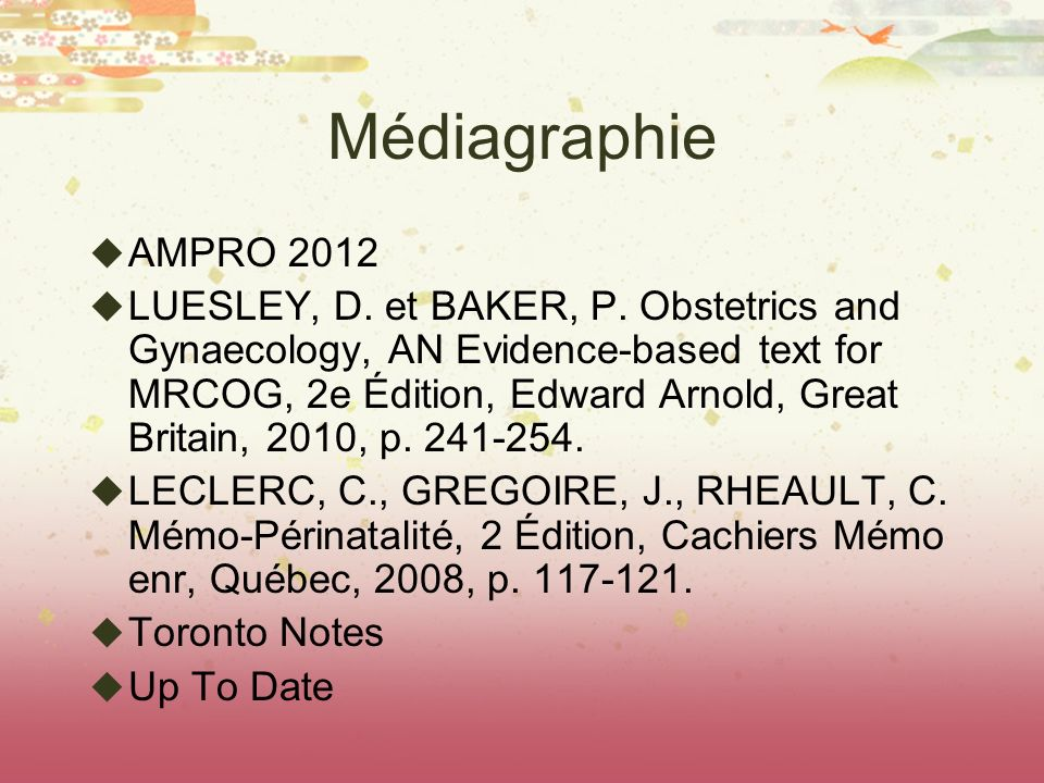 Médiagraphie AMPRO 2012.