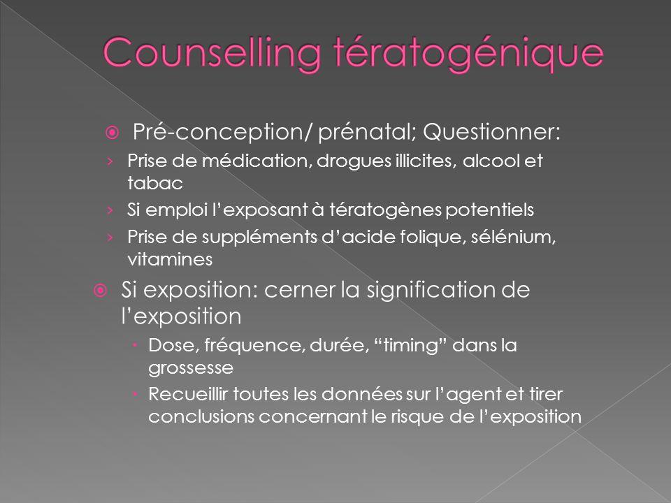 Counselling tératogénique