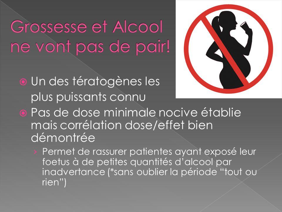 Grossesse et Alcool ne vont pas de pair!