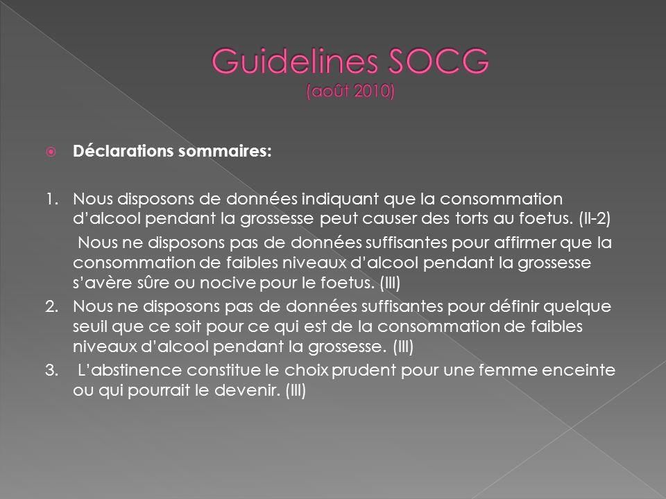 Guidelines SOCG (août 2010)