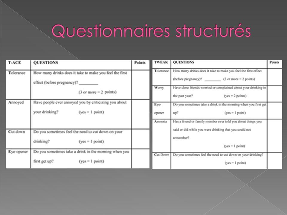 Questionnaires structurés