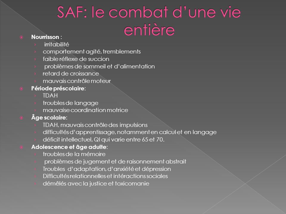 SAF: le combat d'une vie entière
