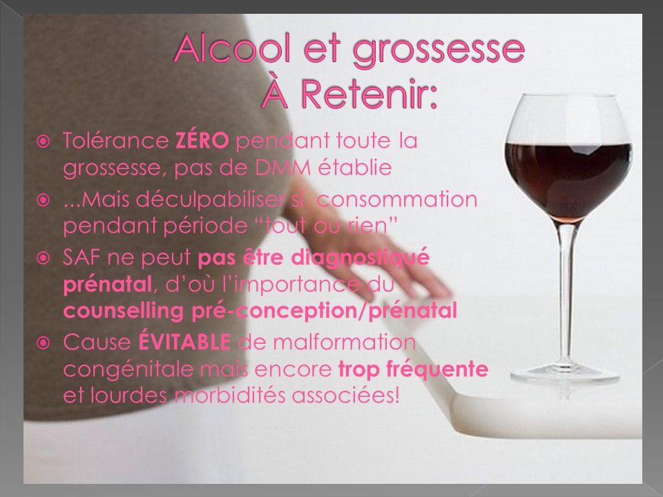 Alcool et grossesse À Retenir: