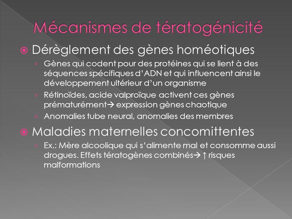 Mécanismes de tératogénicité