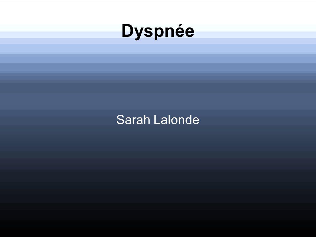 Dyspnée Sarah Lalonde