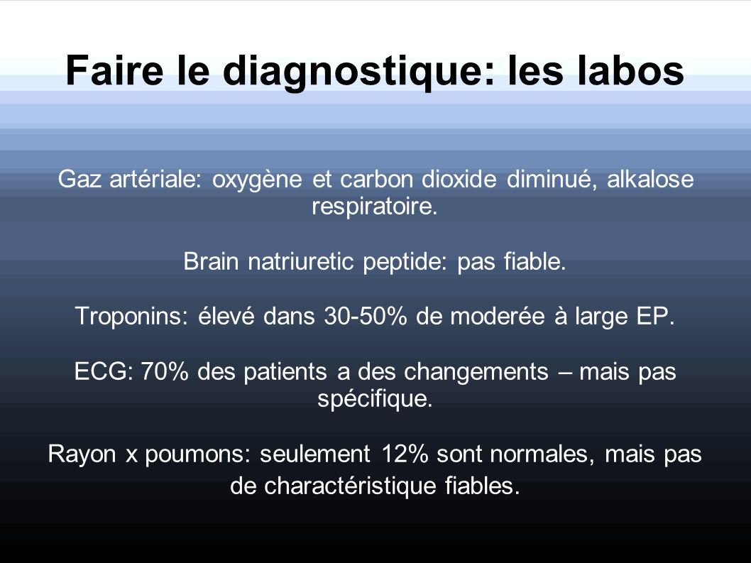 Faire le diagnostique: les labos
