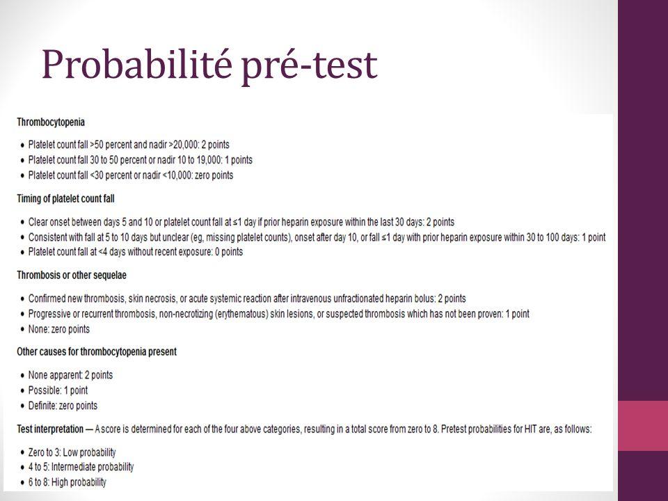 Probabilité pré-test