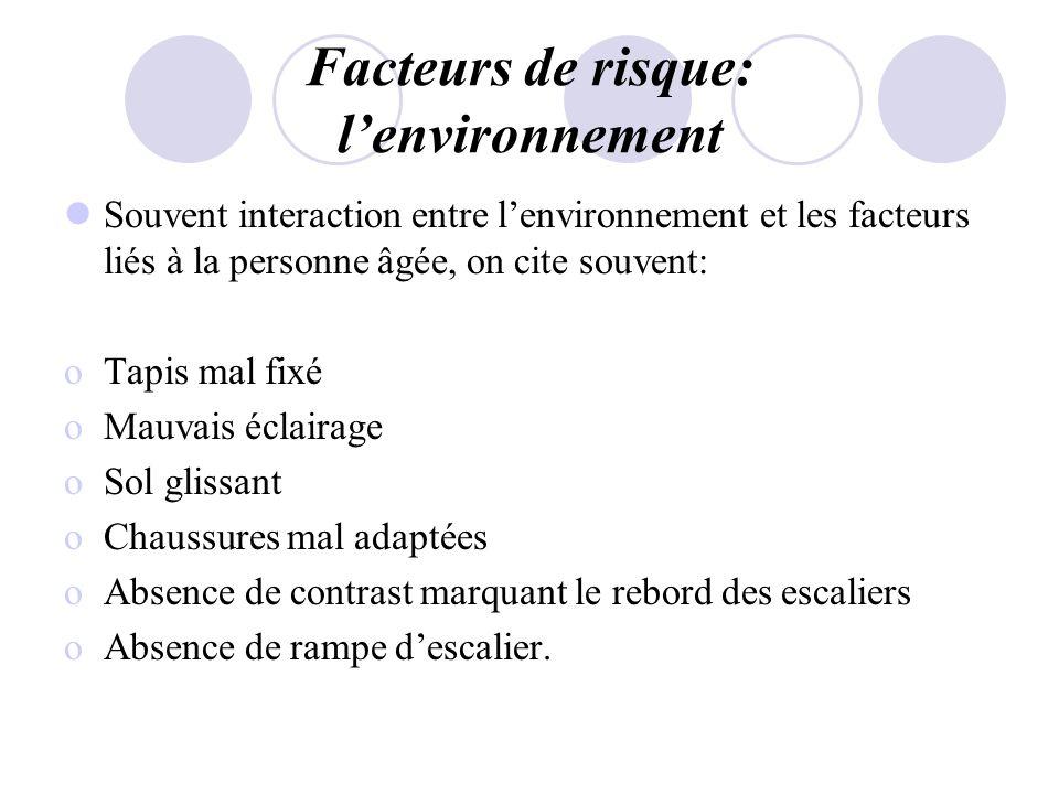 Facteurs de risque: l'environnement