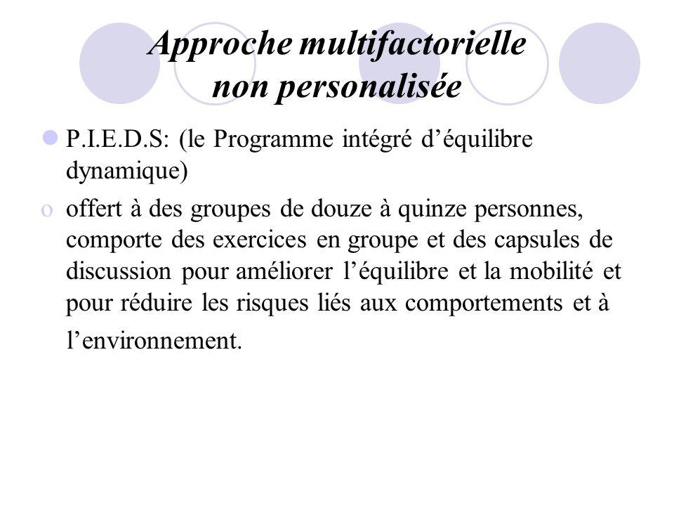 Approche multifactorielle non personalisée