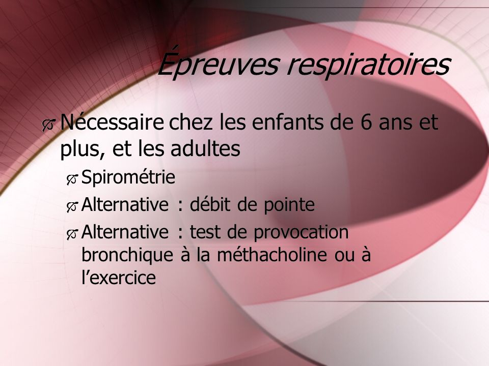 Épreuves respiratoires