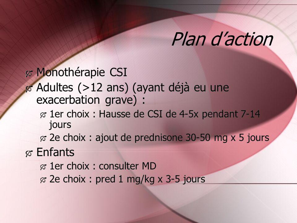Plan d'action Monothérapie CSI