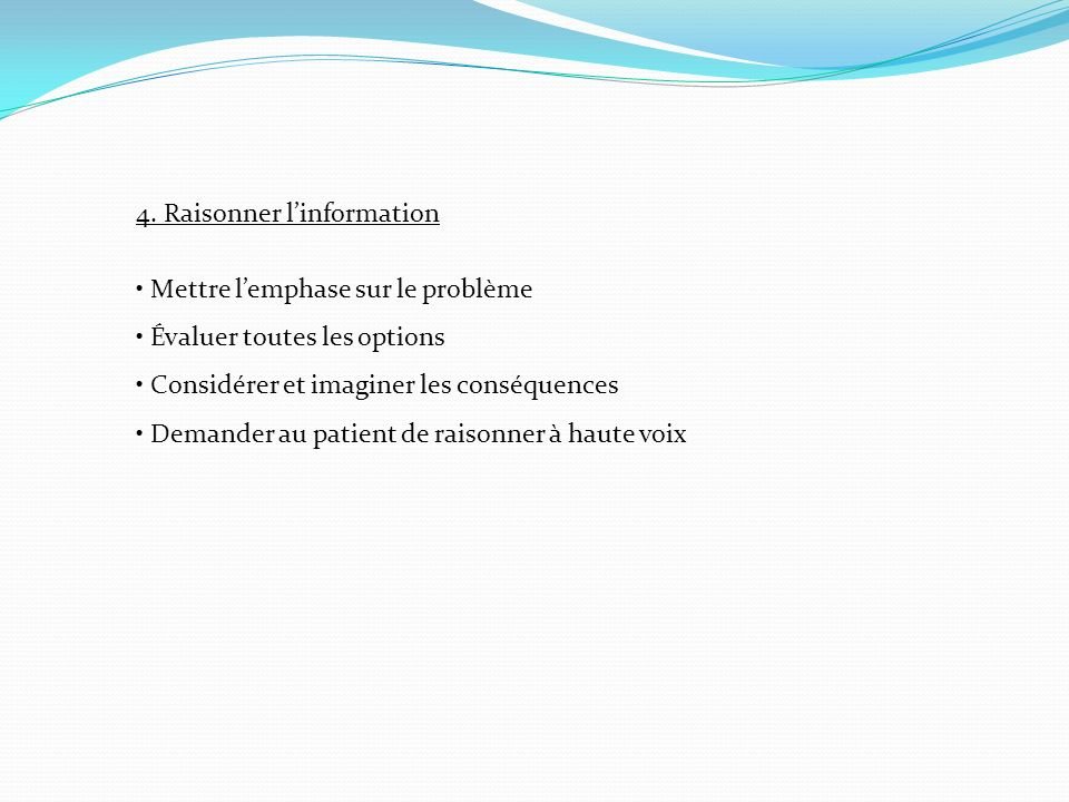 4. Raisonner l'information