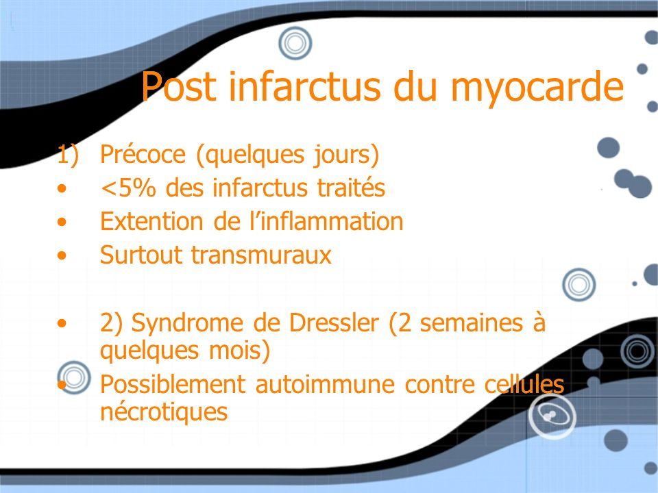 Post infarctus du myocarde