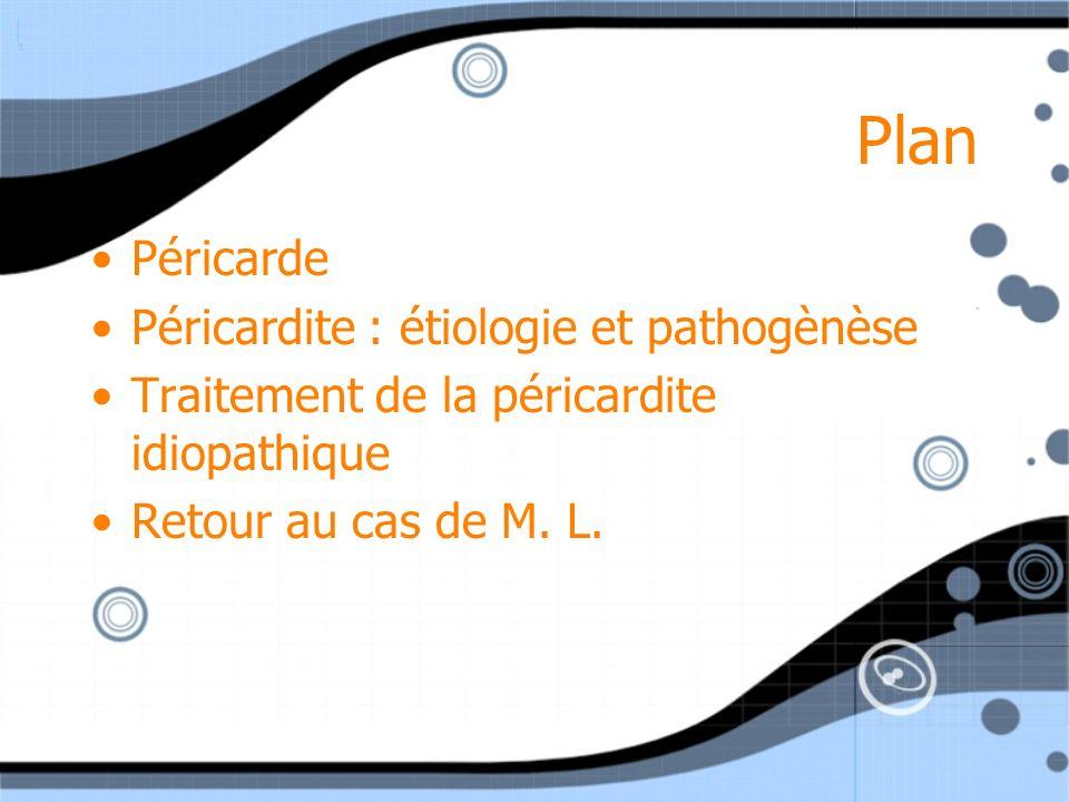 Plan Péricarde Péricardite : étiologie et pathogènèse
