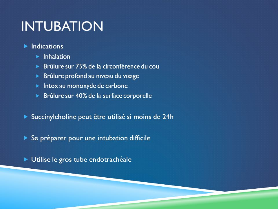 intubation Indications