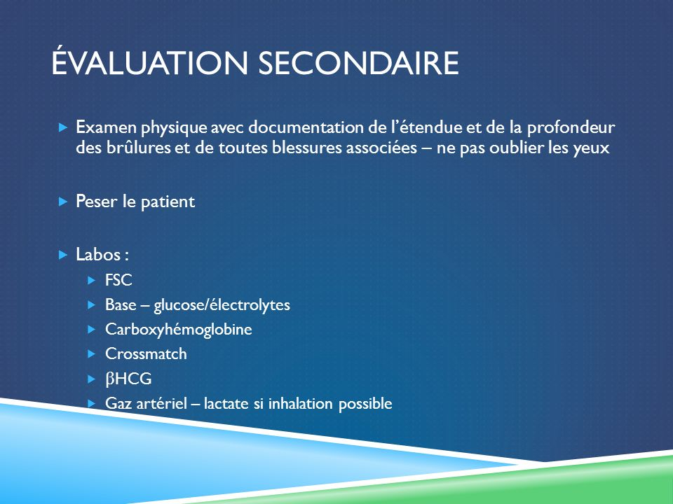 Évaluation secondaire