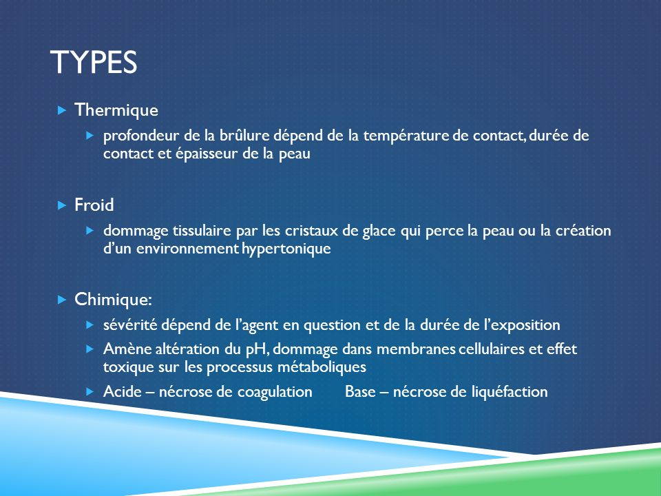 Types Thermique Froid Chimique: