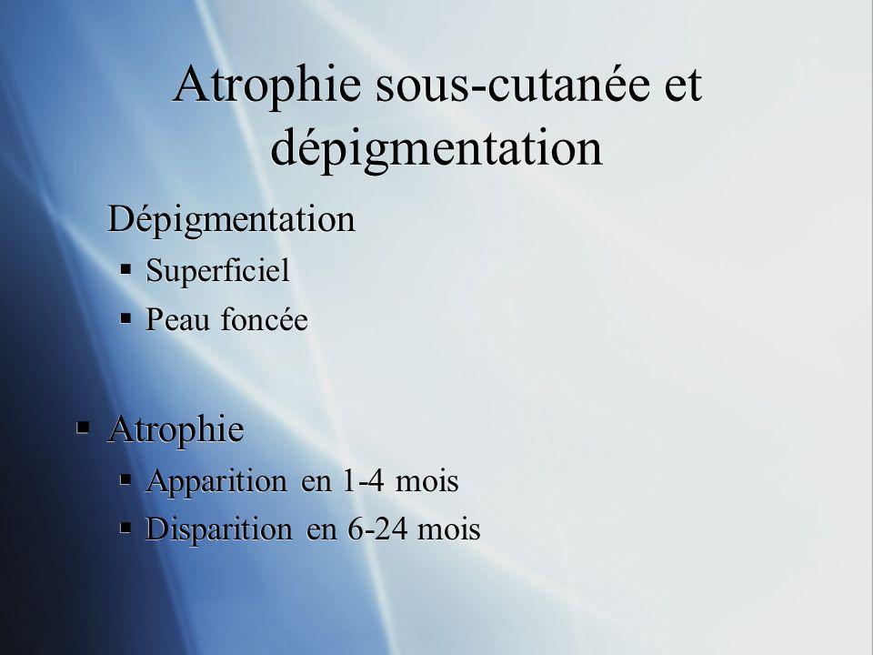 Atrophie sous-cutanée et dépigmentation