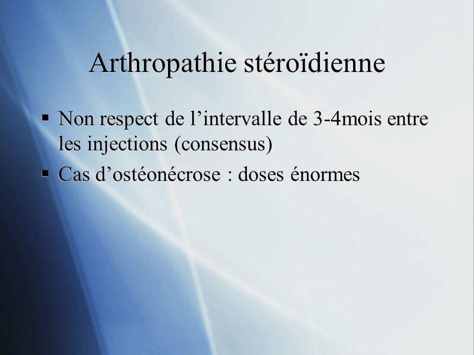 Arthropathie stéroïdienne