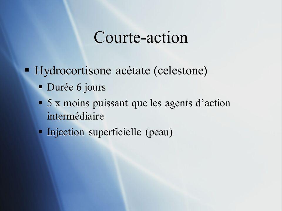 Courte-action Hydrocortisone acétate (celestone) Durée 6 jours