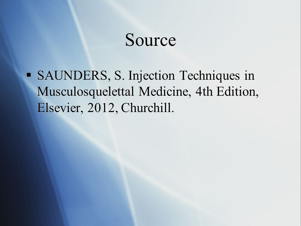 Source SAUNDERS, S.