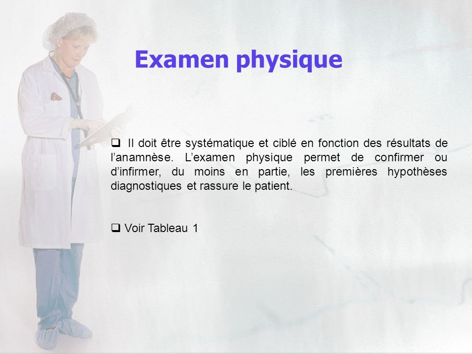 Examen physique