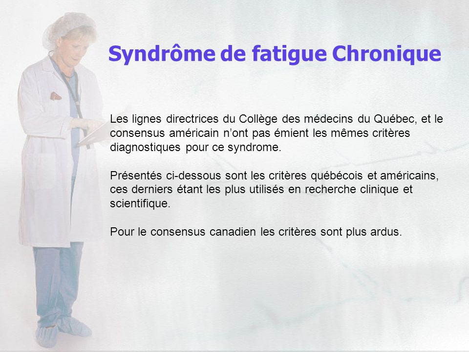 Syndrôme de fatigue Chronique