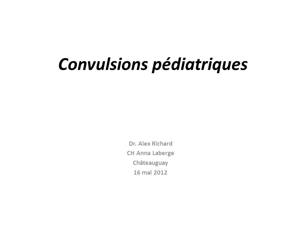 Convulsions pédiatriques