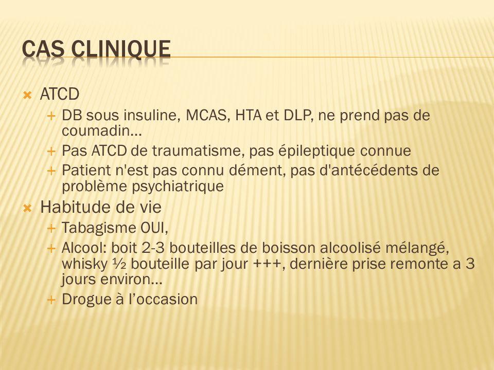 Cas clinique ATCD Habitude de vie