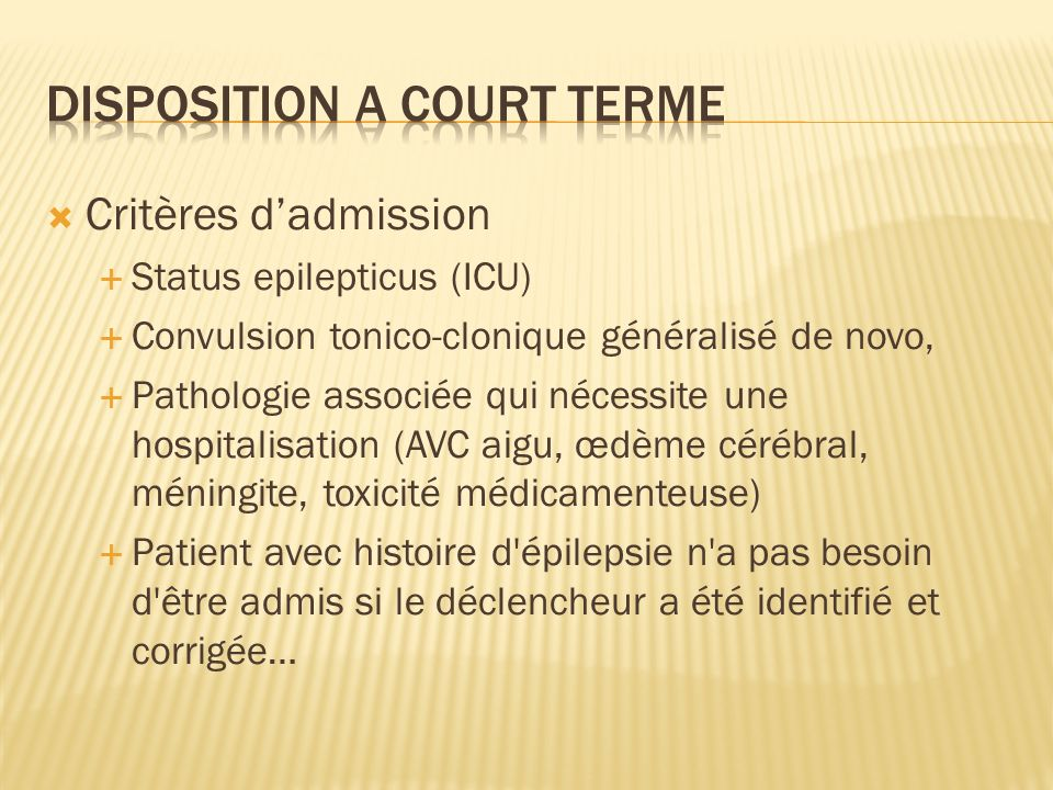Disposition a court terme