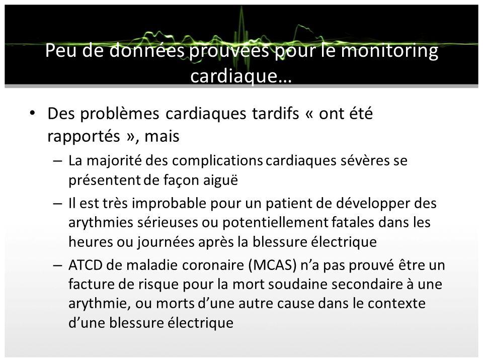 Peu de données prouvées pour le monitoring cardiaque…