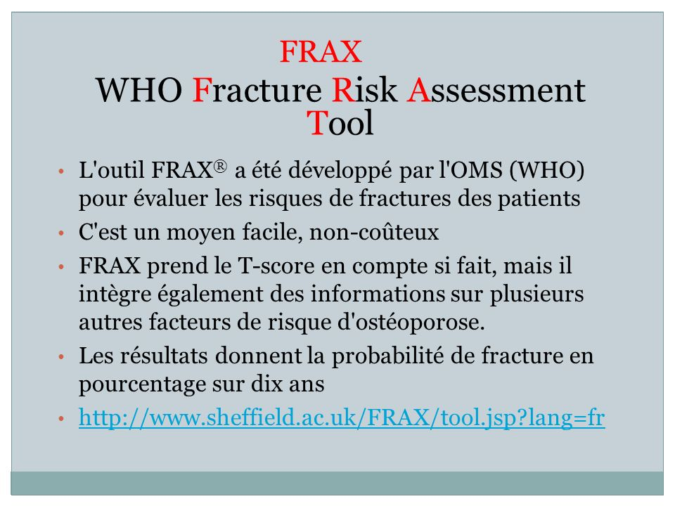 WHO Fracture Risk Assessment Tool