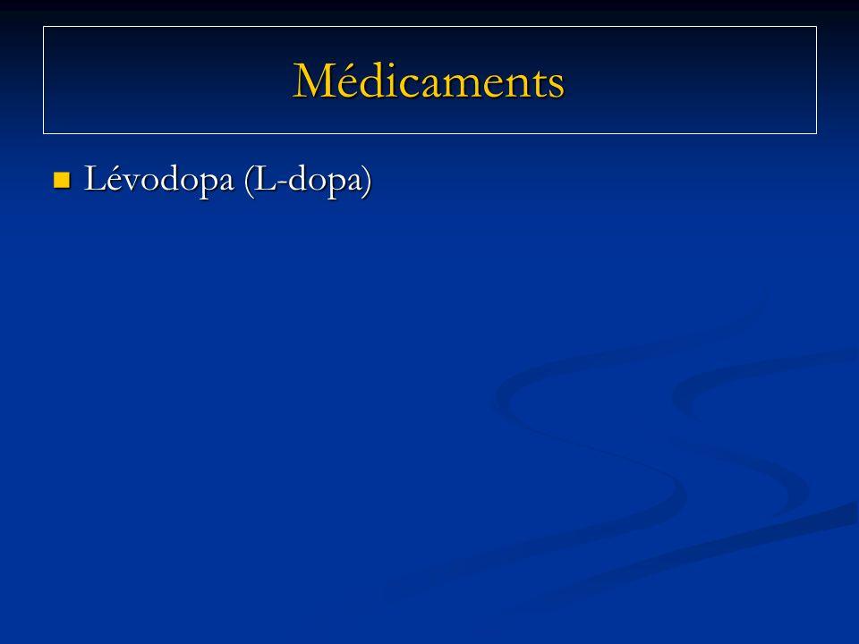 Médicaments Lévodopa (L-dopa)