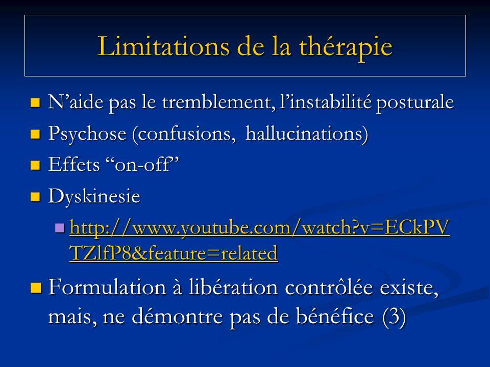 Limitations de la thérapie