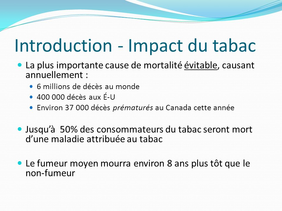 Introduction - Impact du tabac