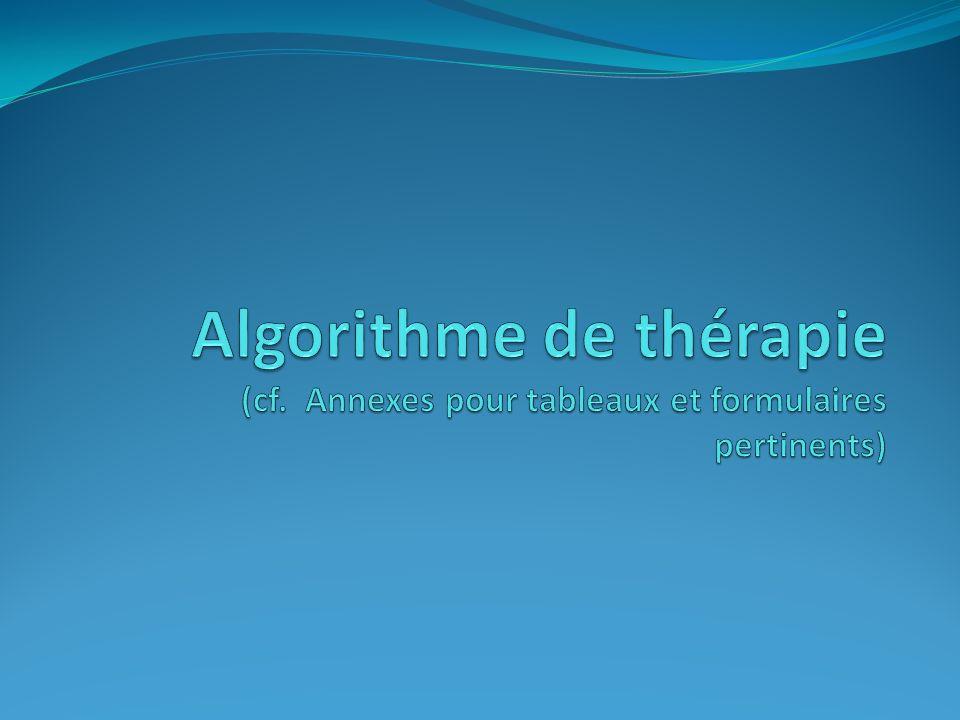 Algorithme de thérapie (cf