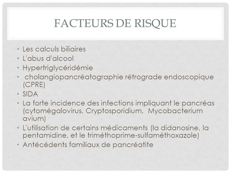 Facteurs de risque Les calculs biliaires L abus d alcool