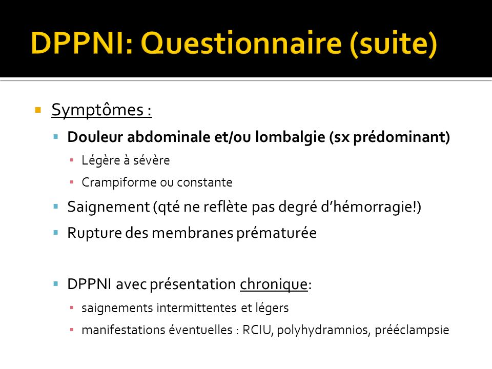 DPPNI: Questionnaire (suite)