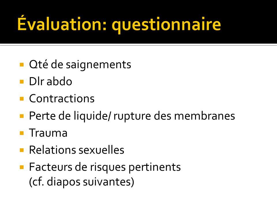 Évaluation: questionnaire