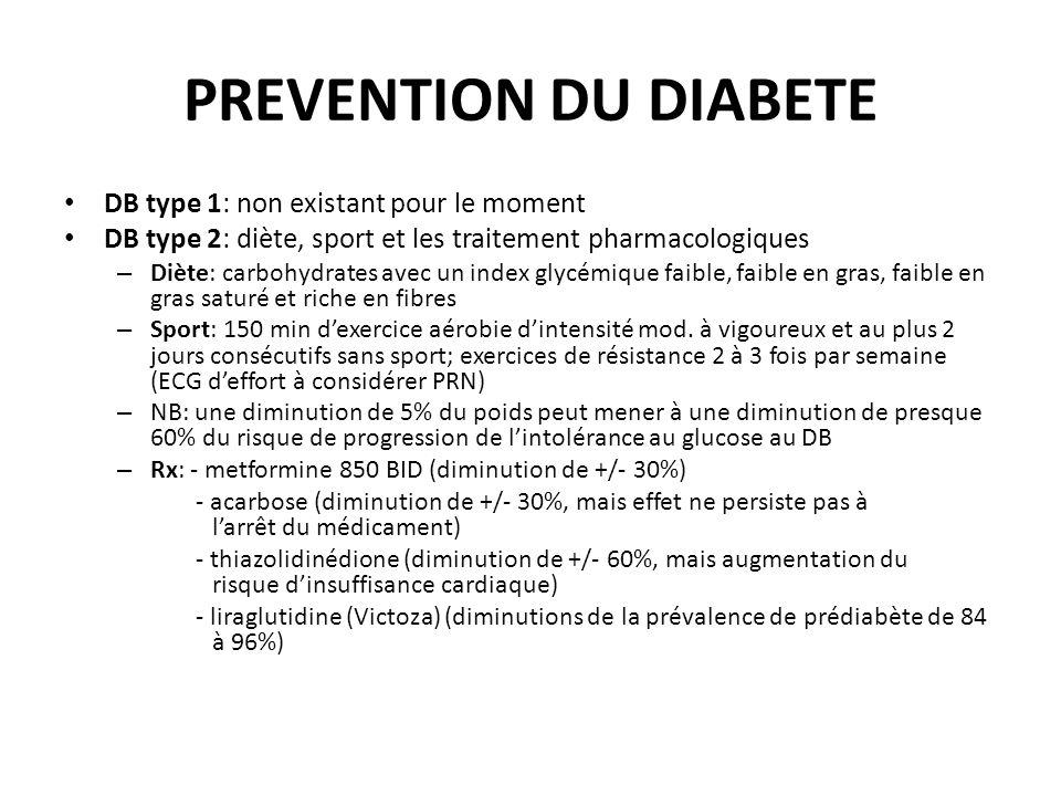 PREVENTION DU DIABETE DB type 1: non existant pour le moment