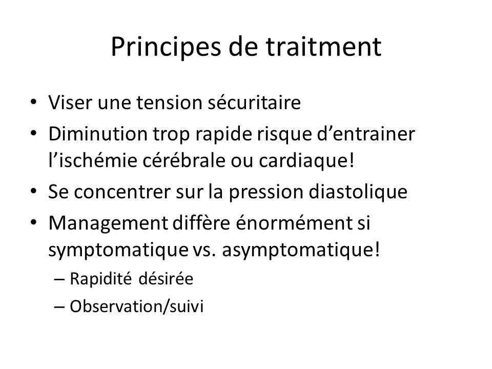 Principes de traitment