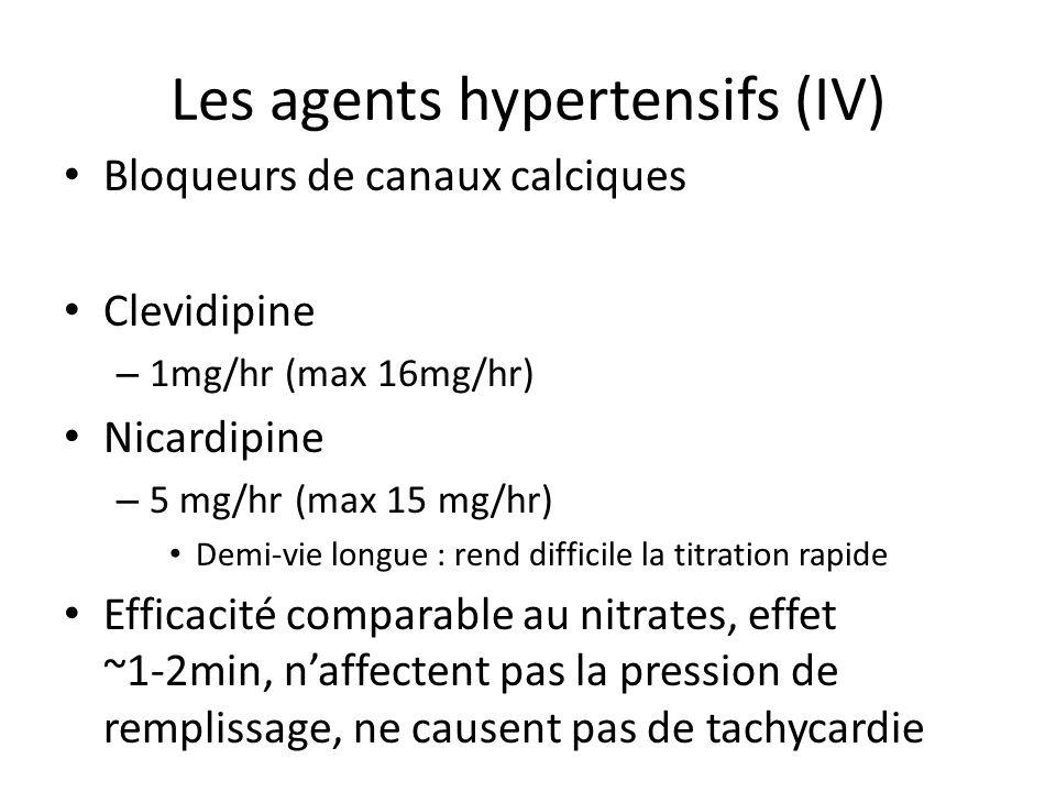 Les agents hypertensifs (IV)
