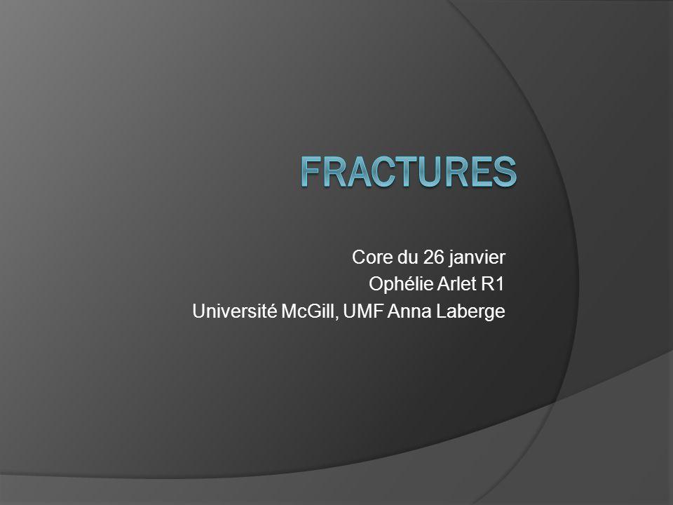 FRACTURES Core du 26 janvier Ophélie Arlet R1