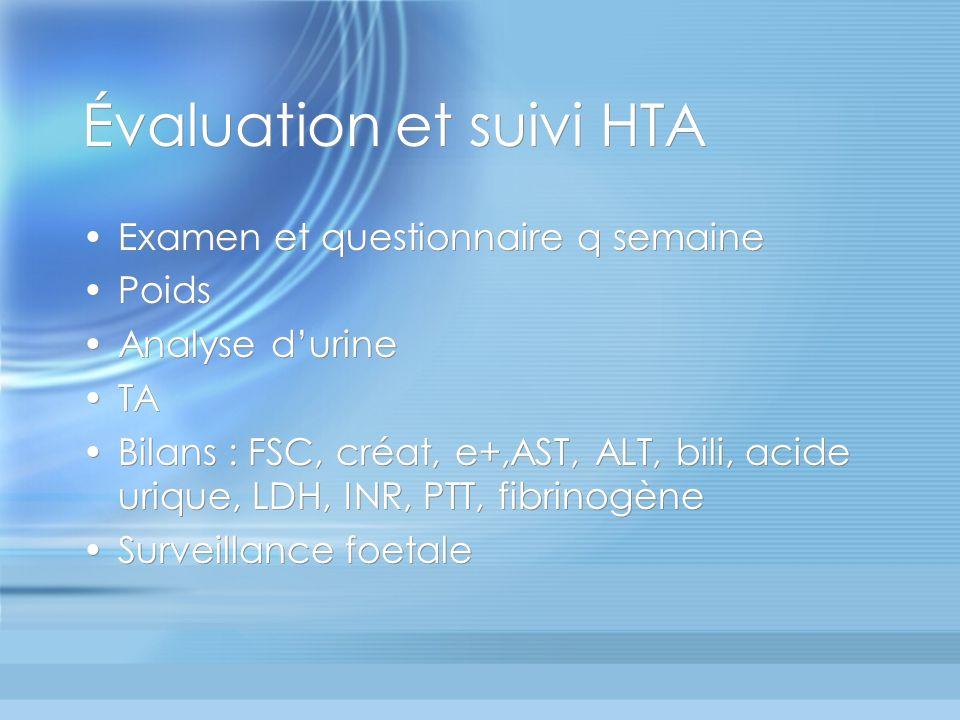 Évaluation et suivi HTA