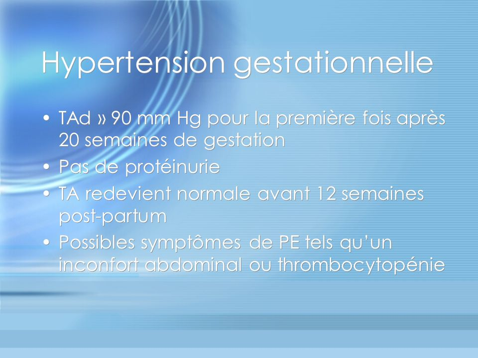 Hypertension gestationnelle